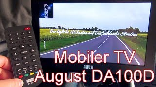 Unboxing und Test vom Mobil-TV - August DA100D - 20% Rabattcode