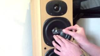 How to fix a broken dust cap on a speaker