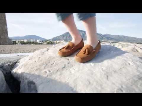 Mocasines para Niño Serraje con Borlas - Zapatos Blanditos para Vestir