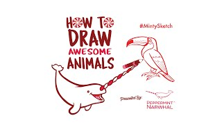 Toco Toucan, Episode 4 - How To Draw Awesome Animals with Peppermint Narwhal