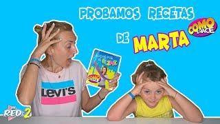 Probamos Recetas De Slime Del Libro De MARTA De COMO SE HACE!! Enreda2