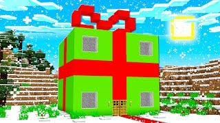 HOW TO MAKE A GIANT PRESENT HOUSE IN MINECRAFT!