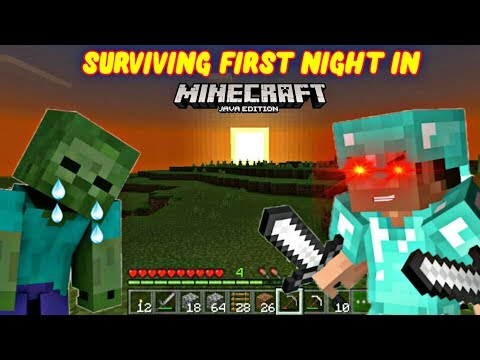 FIRST NIGHT IN MINECRAFT IS TOUGH • PLAYING MINECRAFT FOR THE FIRST TIME