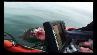 preview picture of video 'Octobre 2013 : Pêche au leurre en kayak à Saint-Malo'