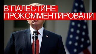 ВПалестине прокомментировали политику администрации Трампа
