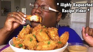 HIGHLY REQUESTED RECIPE BATTERED FRIED CHICKEN + MUKBANG