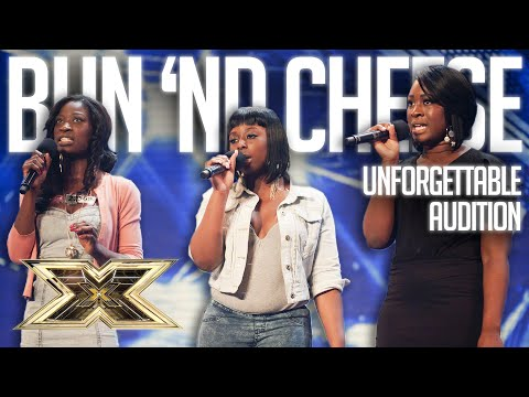 Girlband BUN 'ND CHEESE want to be taken seriously in UNFORGETTABLE AUDITION | The X Factor UK