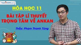 Bài tập lí thuyết trọng tâm về ankan - Hóa 11 - Thầy Phạm Thanh Tùng