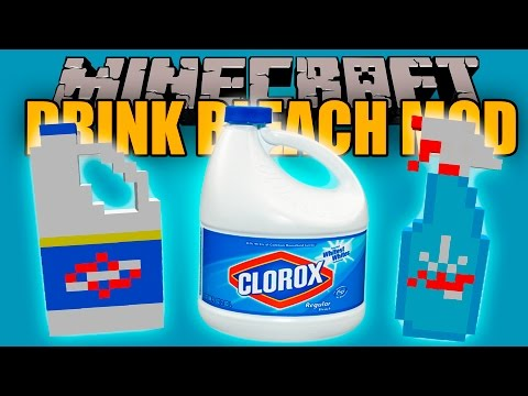 CLOROX MOD - Toma lejía y muere!!! - Minecraft mod 1.10.2 Review ESPAÑOL
