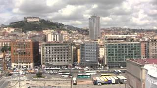 preview picture of video 'Views Around the Port of Napoli / Naples, from the MSC Splendida - Italy - 15th July, 2014'