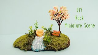 Diorama   Miniature Painted Rocks Fairy Garden   Spring Crafts Ideas