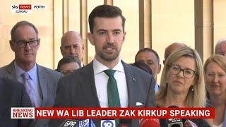 Zak Kirkup elected WA Liberal leader