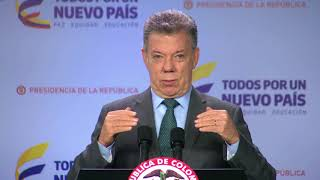 Agilizar trámite de proyectos para implementar la paz, pide Santos