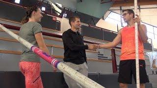 Un entraînement avec Axel Chapelle et Ninon Guillon-Romarin