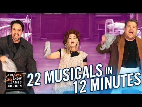 22 Musicals In 12 Minutes w/ Lin-Manuel Miranda & Emily Blunt