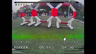 DVR of 2nd Place of the 120mm Race of 2020 Drone Racing Open Competition in Guangzhou China.