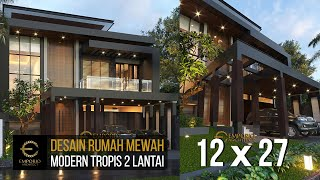 Video Desain Rumah Modern 2 Lantai Ibu Wita di  Jakarta Barat