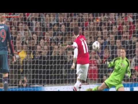 Mesut Özil epic fail Penalty Miss ~ Arsenal vs FC Bayern München 19/02/2014 HD