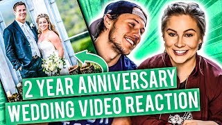 WEDDING VIDEO REACTION! 2 YEAR ANNIVERSARY | Shawn Johnson