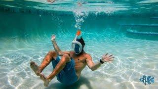 Маска Подводная для ныряния и плавания Easybreath PINK Розовая от компании Телемагазин - видео