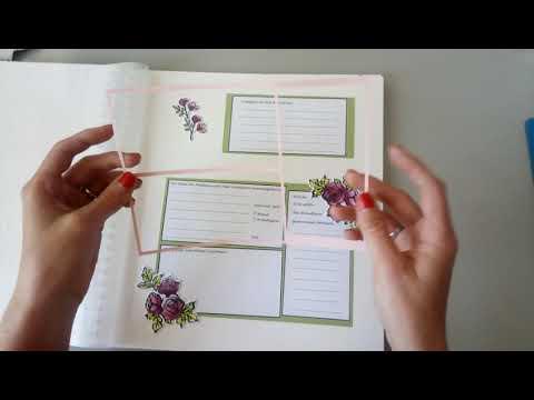 DIY Gästebuch Hochzeit mit Stampin' Up Produkten und anderen