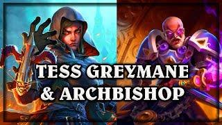 Tess Greymane & Archbishop Benedictus~ The Witchwood Hearthstone Heroes of Warcraft