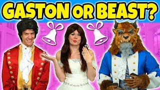 BELLE MARRY BEAST OR GASTON? (We Play Disney Princesses Elsa, Anna, Tiana and Rapunzel) Totally TV