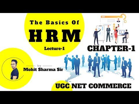 INTRODUCTION - HUMAN RESOURCE MANAGEMENT || CHAPTER-1(Part-1) || UGC NET COMMERCE DEC 2020