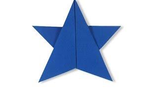 Cách gấp, xếp ngôi sao năm cánh bằng giấy origami - Video hướng dẫn