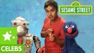 Sesame Street: Kunal Nayyar Helps Grover fix his Robot