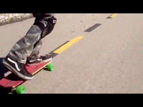 Testing Home Brewed Slalom Board