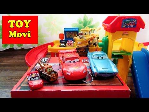 Cars 2 Toys Kinder Auto Kinderfahrzeuge, Für Kleinkinder Spielzeug Cars Parkhaus Lightning Mcqueen