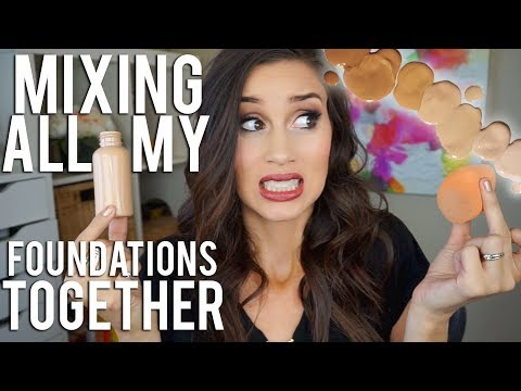 Mixing All My Foundations Together!