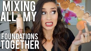 Mixing All My Foundations Together! - Video Youtube