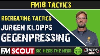 Replicating Klopp's Gegenpressing on FM18