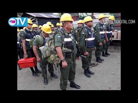 Ejército de Nicaragua despliega unidades para el combate y control del incendio en Reserva Indio Maíz