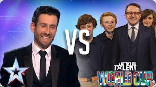 Jamie Raven vs Only Boys Aloud | Britain's Got Talent World Cup 2018 - Video Youtube