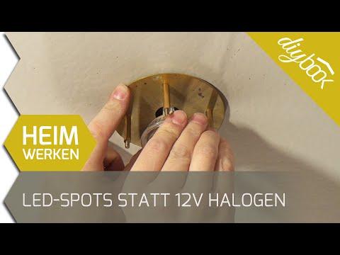 12V-Halogenstrahler durch LED-Spots ersetzen