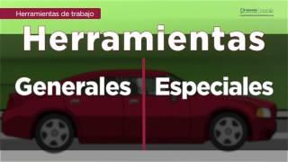 Herramientas básicas para mecánico automotriz.