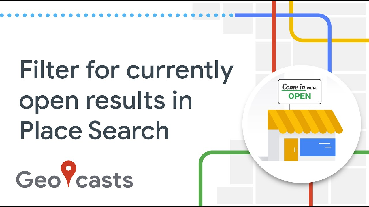 How to filter Place Search for currently open results