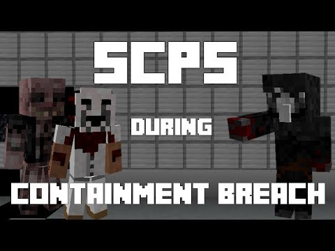 SCP's during Containment Breach in Minecraft! [SCP Containment