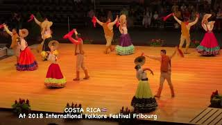 COSTA RICA  At 2018 International Folklore Festival Fribourg