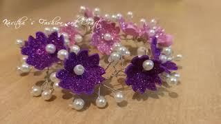 Bridal Hair Vine // Party Wear Hair Accessories // DIY Hair Pins
