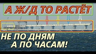 Крымский(июнь 2018)мост! ОГО! Как растёт Ж/Д мост,не по дням,а по часам