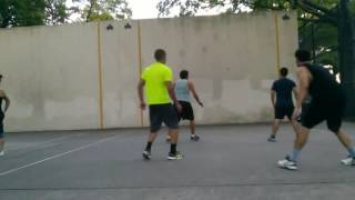 Erick A and Anthony D vs Max L and Jimmy A 2016-08-11 handball game