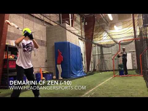 2018 DeMarini CF Zen (-10) USSSA Senior League Baseball Bat – Review and Demo
