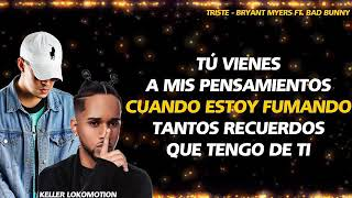 Bryant Myers   Triste ❌Bad Bunny (letra)