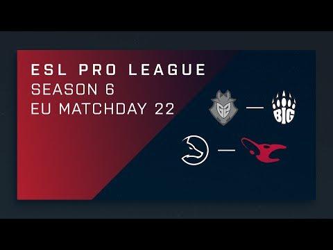 CS:GO: G2 vs. BIG | LDLC vs. mouz - Day 22 - ESL Pro League Season 6 - EU 2nd Stream