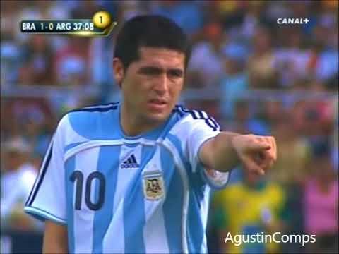 Riquelme vs Brasil Final Copa America 2007
