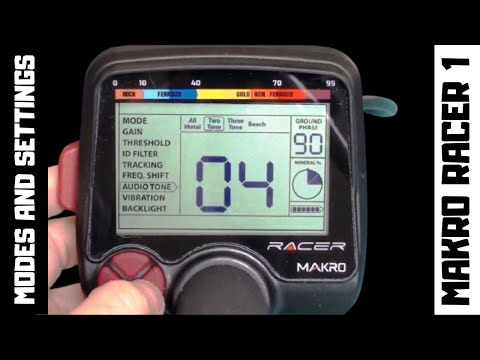 Makro Racer Metal Detector Settings / Modes